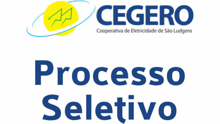 CEGERO – Processo seletivo nº 01/2019