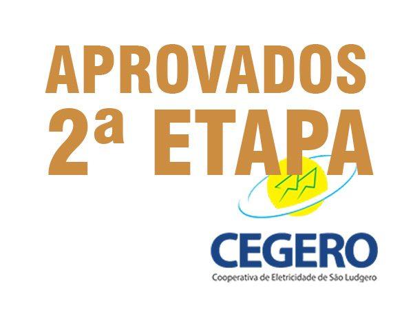 APROVADOS PARA A 2ª ETAPA – EDITAL N. 01/2019